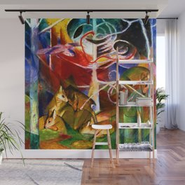 Franz Marc Deer in the Forest Wall Mural