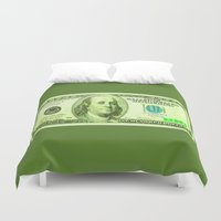 the 100 Duvet Covers featuring 100 Dollars by JT Digital Art