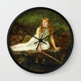 "John Collier ""The Butterfly inscribed 'Portrait of Mabel...'"" Wall Clock"