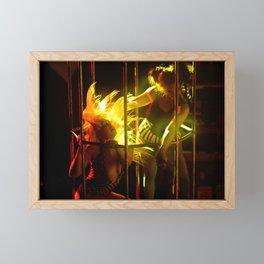 Sexy Cage Dancer Framed Mini Art Print