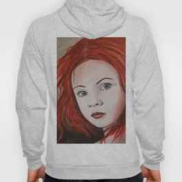 girl with red hair Hoody