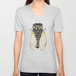Cicada – Black & Gold Unisex V-Neck