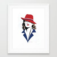 peggy carter Framed Art Prints featuring Peggy Carter by Arne AKA Ratscape