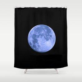 Blue Supermoon Shower Curtain