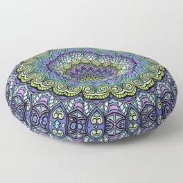 Purple n' Green Machine - Mandala Art Floor Pillow