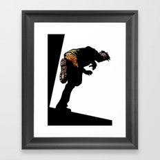 RUN ZOMBIE RUN! Framed Art Print