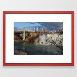 Niagara Falls and Rainbow 1 Framed Art Print