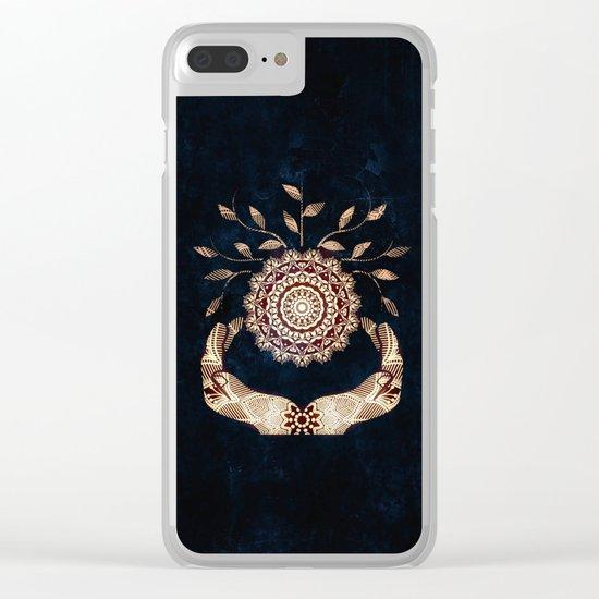 Glowing Soul-Seed Mandala Clear iPhone Case