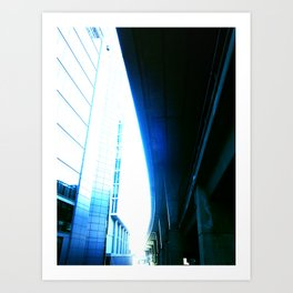 fly over london Art Print