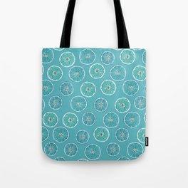 Turquois Oranges Pattern Tote Bag