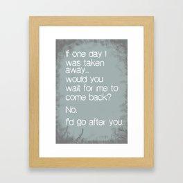 If One Day... Framed Art Print