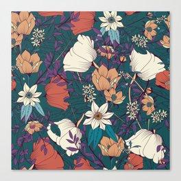 Botanical pattern 008 Canvas Print