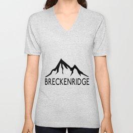 BRECKENRIDGE COLORADO SKIING SKI MOUNTAINS SNOWBOARD Unisex V-Neck