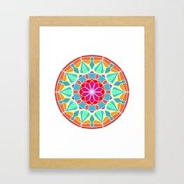 Soft colors mandala Framed Art Print