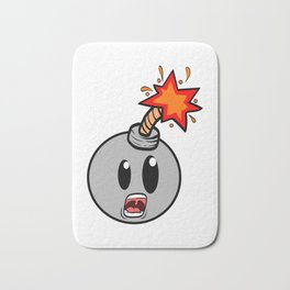 A Bombing Tee For Bombers With A Cute Illustration Of A Mad Explosive Device Bomb Fire Ticker Bath Mat