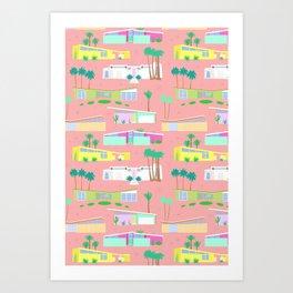 Palm Springs Houses Art Print