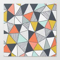 triangles Canvas Prints featuring Triangles by Patterns and Textures