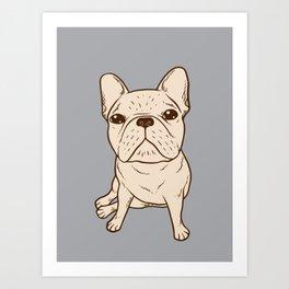 Cream French Bulldog Art Print
