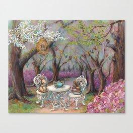 Vintage Woodland Tea Party Canvas Print
