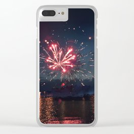 Light up the sky Clear iPhone Case