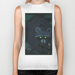 Radioactive Raccoon Biker Tank