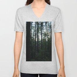 Unfocused in the Forest Unisex V-Neck