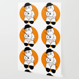 Patchwork Orange Wallpaper