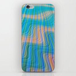 Topsy turvy waves iPhone Skin