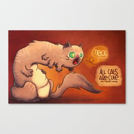 Hungry monster Canvas Print