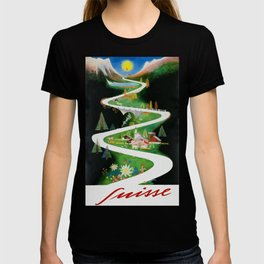 Switzerland - Vintage French Travel Poster T-shirt
