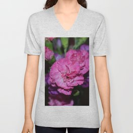 Pink carnation Unisex V-Neck