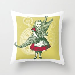 Tangled Tales - Alice in Neverland Throw Pillow