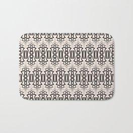 Art Deco 12 . Black and beige pattern . Bath Mat