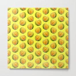 Durian pattern Metal Print