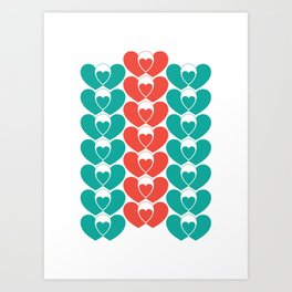 Family pattern Art Print