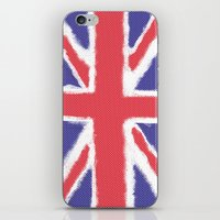 union jack iPhone & iPod Skins featuring Union Jack by Holly Louise