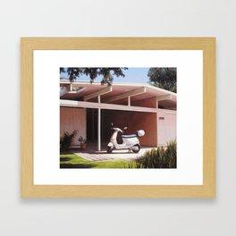 Eichler With Vespa Framed Art Print