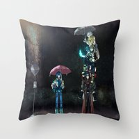 dramatical murder Throw Pillows featuring Dramatical Murder - My Neighbors... by Lalasosu2