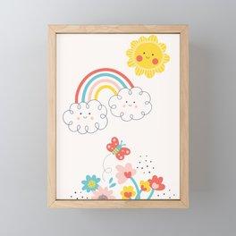 Butterfly Sunshine Framed Mini Art Print