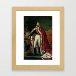 Portrait of William I, King of the Netherlands, Joseph Paelinck, 1819 Framed Art Print