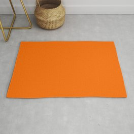 Solid Shades - Carrot Rug
