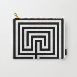 Cretan labyrinth in black and white Carry-All Pouch