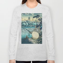 Japanese woodblock mashup Long Sleeve T-shirt