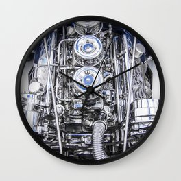 Hot Rod Blue, Automotive Art with Lots of Chrome by Murray Bolesta Wall Clock