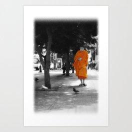 Peace Walking Art Print