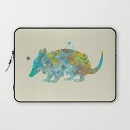 Armadillo Watercolor Painting Turquoise Aqua Mint Yellow Orange Laptop Sleeve