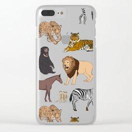 Wild Animals (original) Clear iPhone Case
