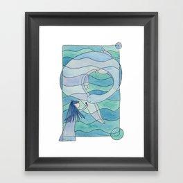 Loch Ness Monster Framed Art Print