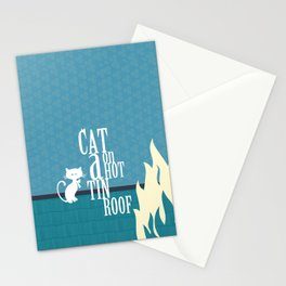 CAT ON A HOT TIN ROOF Stationery Cards