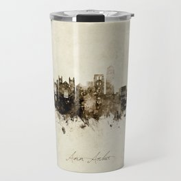 Ann Arbor Michigan Skyline Travel Mug